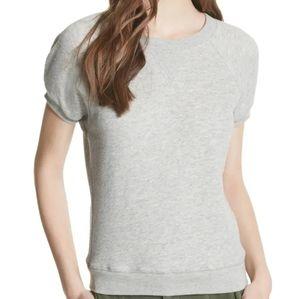 Joie Gray Christal Sweatshirt Short Sleeve M
